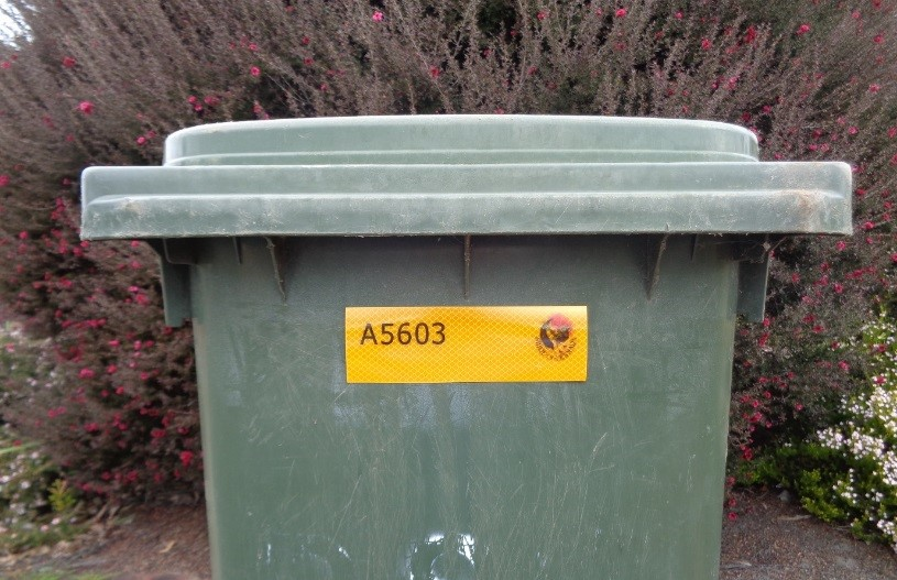 Commercial Bin Sticker Location