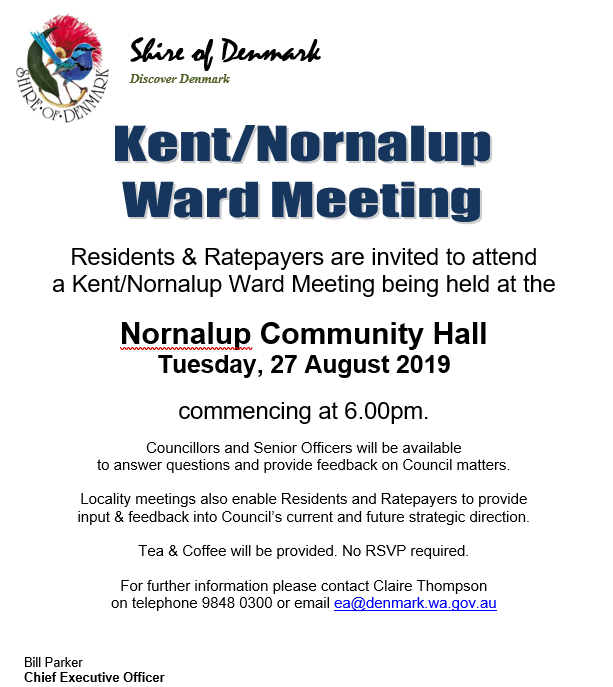 Kent Nornalup Ward Meeting