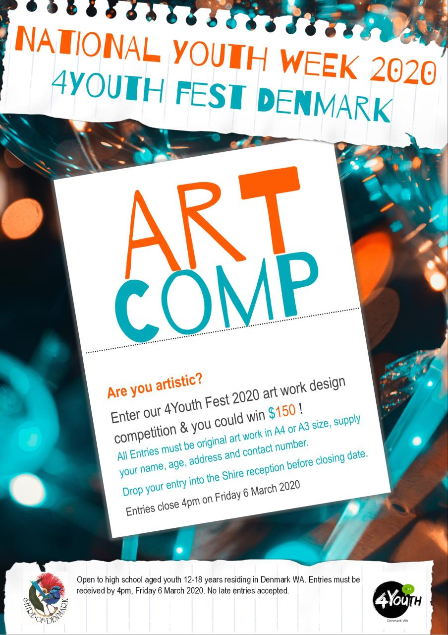4YOUTH FEST ART COMP ADVERT