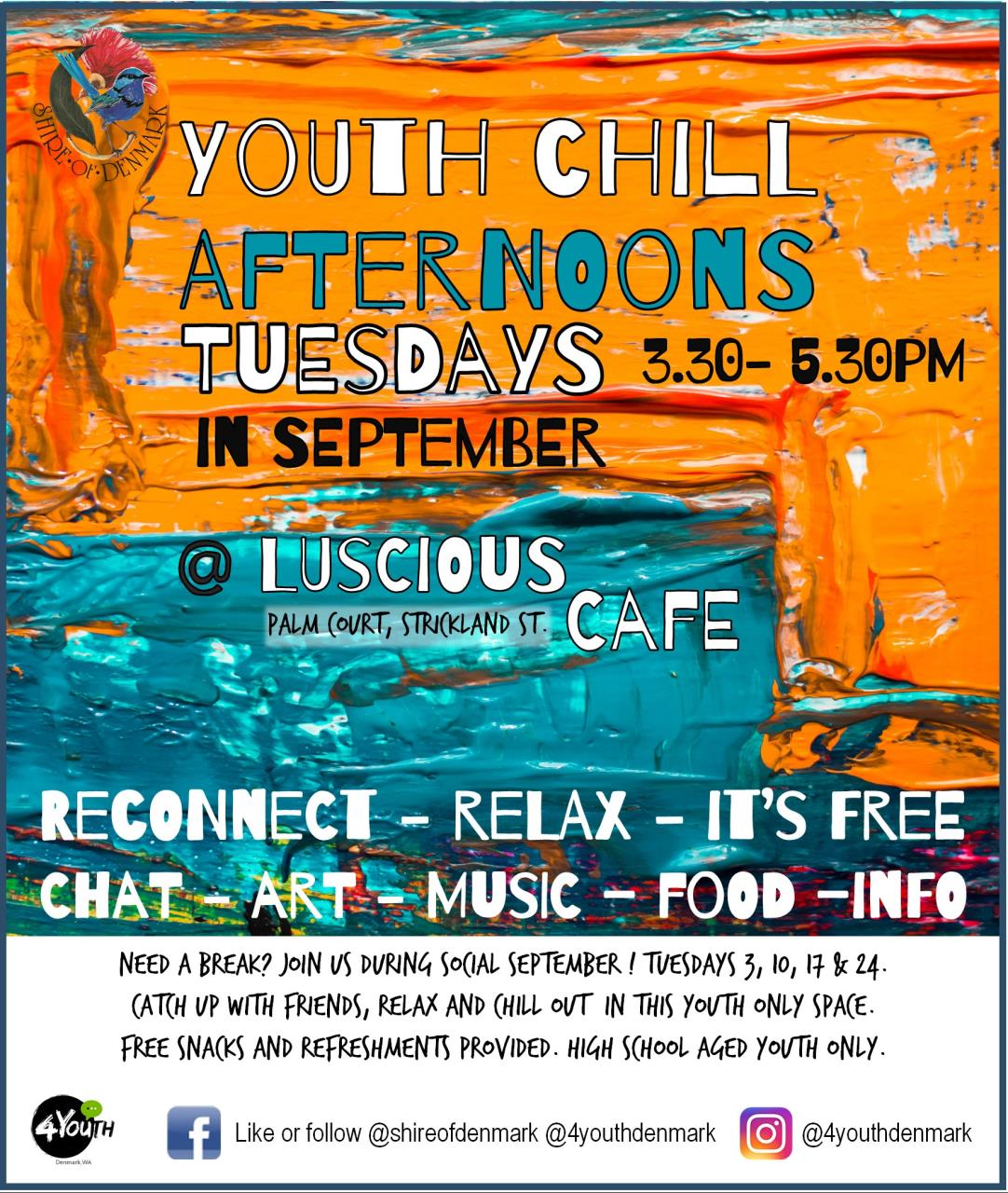 Youth Chill Afternoons - Tuesdays in September