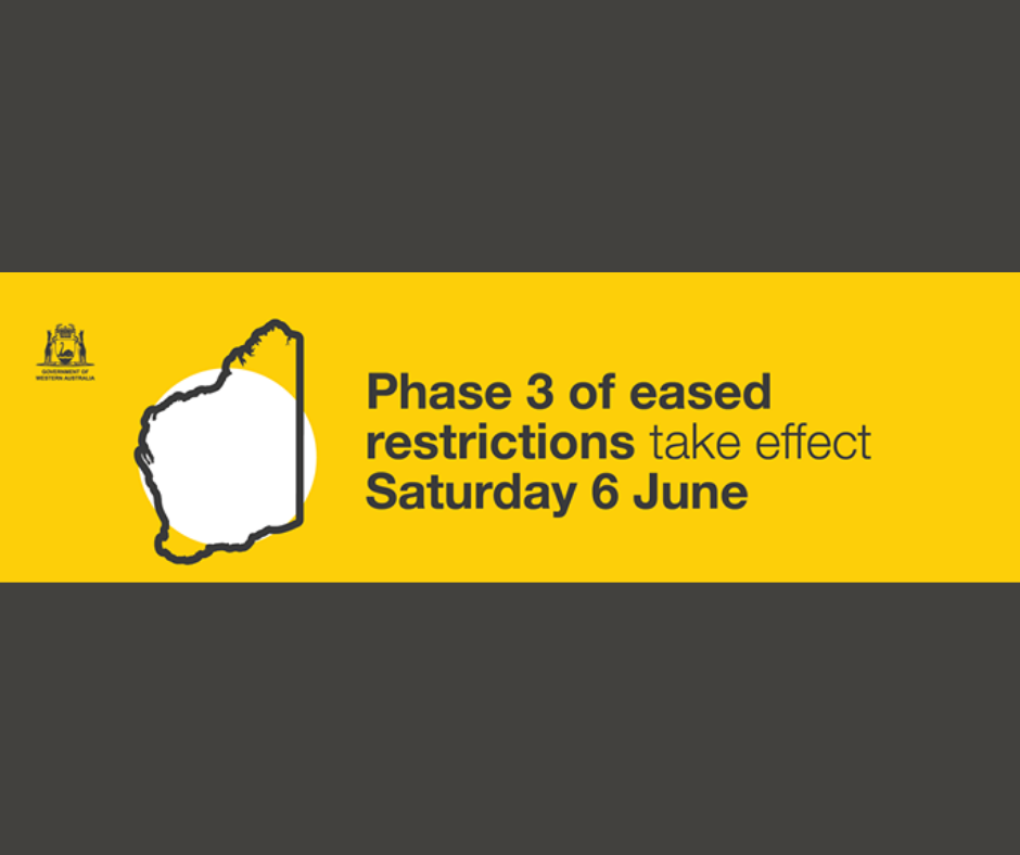 Further easing of restrictions for WA - Saturday 6th June