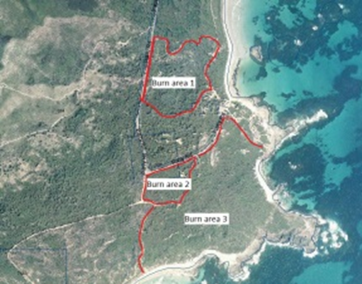 parry beach burn area map