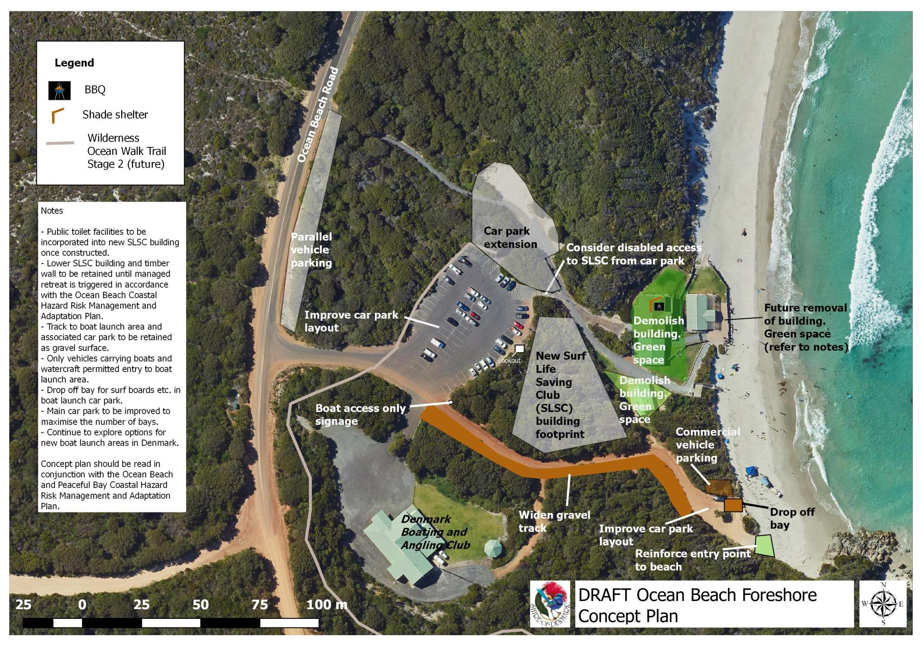 Consultations details shire of denmark ocean beach foreshore concept plan gumiabroncs Image collections